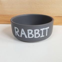 Voerbak rabbit matgrijs
