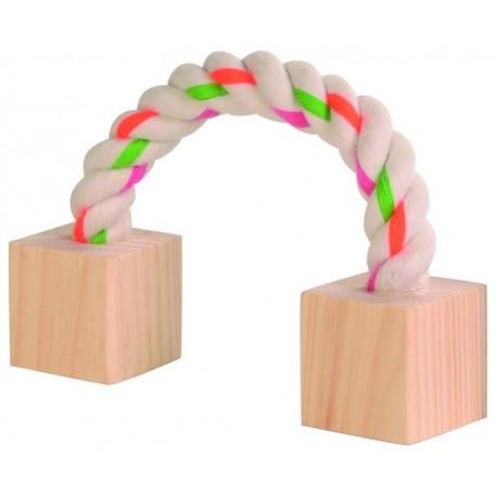 Trixie speeltouw met blokken